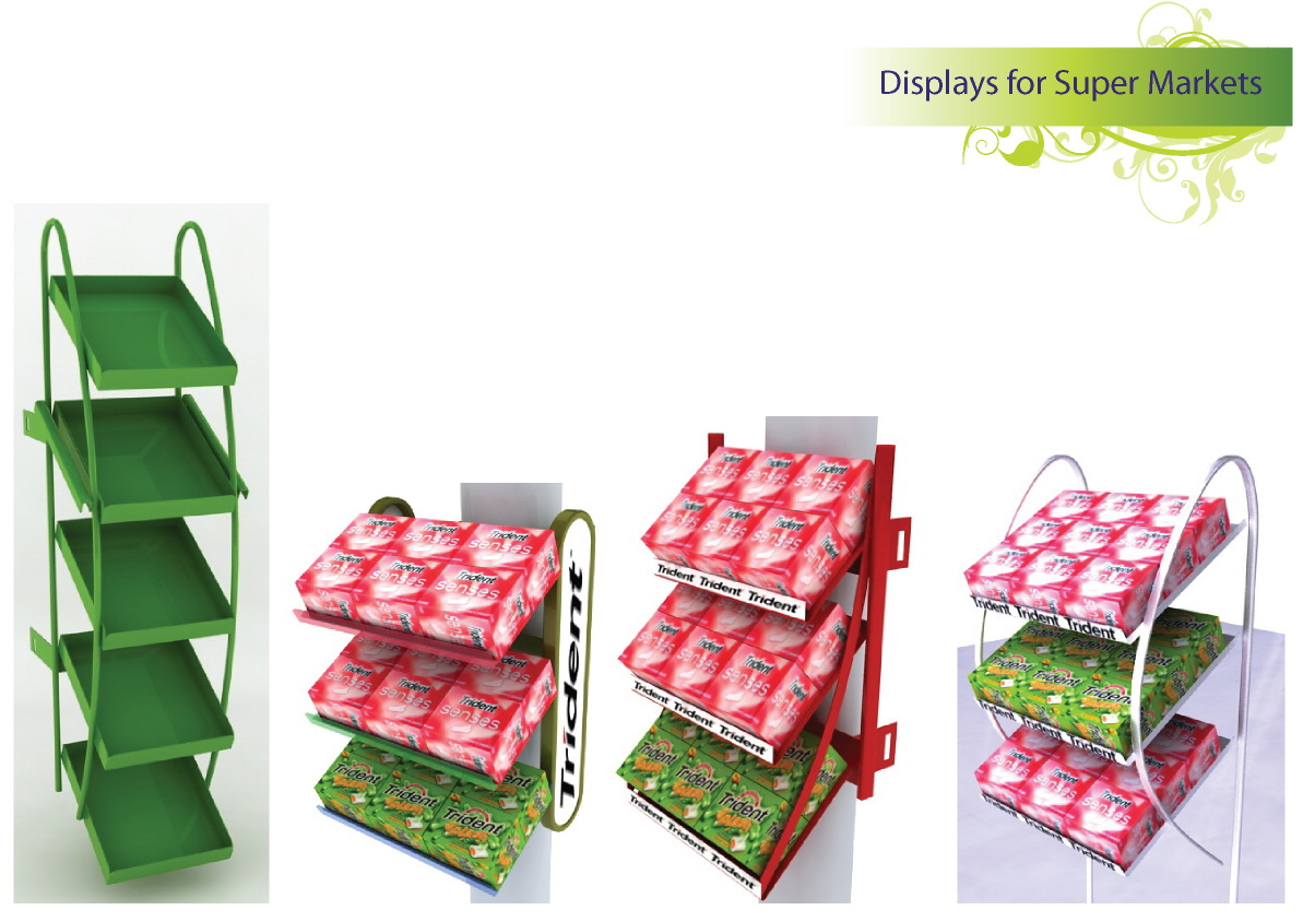 Displays for supermarket