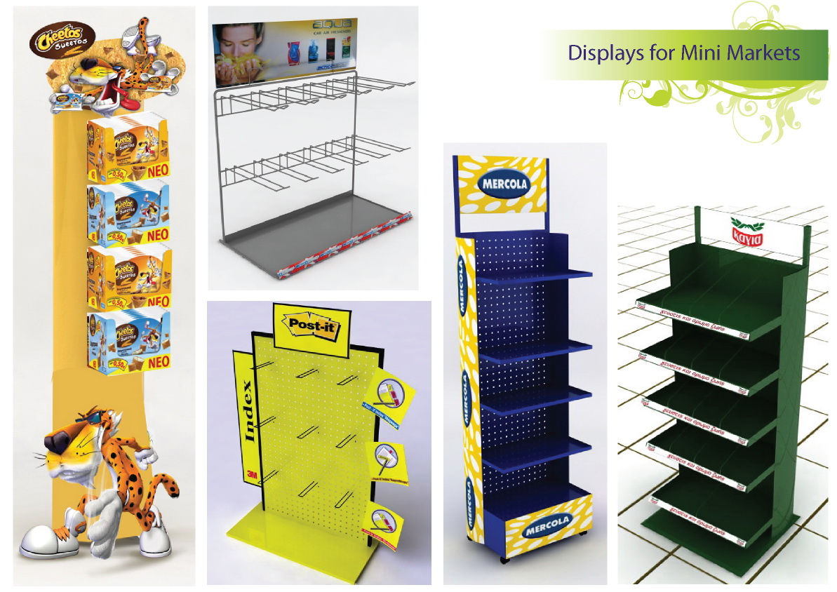 Displays for mini markets